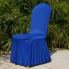 Polyester Spandex Folding Chair Cover Flat Covers Wedding Party Banquet Decor