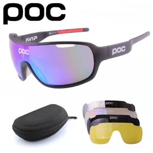POC bike polarized Sports Sunglasses cycling glasses riding goggles with 5 lens