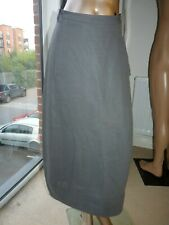 ANNETTE GORTZ 7132 SHARY GREY LONG MIDI COTTON SKIRT UK 8 EUR 36 annette görtz