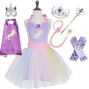 Gilrs Princess Costume Apron for Birthday Party Dress Up Kids Costume Halloween