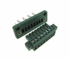 8-Pin 3.81mm Screw Terminal Block Plug Shrouded Flange - Panel Mount