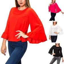 Only Damen Blusenshirt Langarmshirt Basic Bluse Tunika Shirt Top SALE %