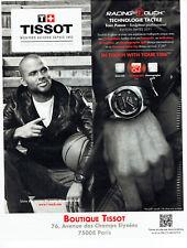 Publicité Advertising 038  2011   montre Tissot Racing Touch &  Tony Parker