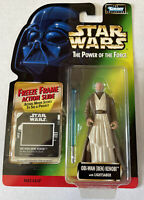 NEW Star Wars POTF Obi-Wan Kenobi with Lightsaber Freeze Frame Kenner 1997