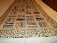 "Handcrafted & Hand quilted, 26"" x 75"" Table Runner/Bed Runner. 100% Cotton"