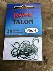 Raven Talon Hooks, Camo Green , One 20 Pack, Size # 4