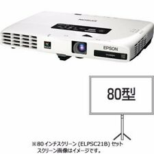 EPSON EB-1776WC7 Mobile Business Projector & 80 inch Screen ELPSC21B set Japan