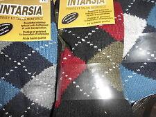 3 a 6 paires chaussettes hommes INTARSIA jacquard spécial pieds sensibles