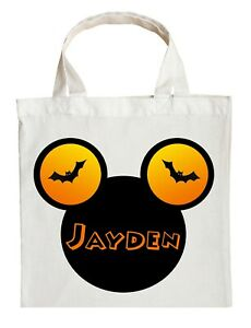Mickey Mouse Trick or Treat Bag - Personalized Mickey Mouse Halloween Bag