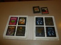 Atari 2600 CX2610 Lot 10 Games Warlords Mountain King Asteroids Crypts Chaos