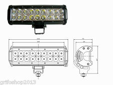 FARO TORCIA SUPPLEMENTARE LED SUV AUTO 12V 18 LED 54W 6000K IP68 ULTRA LUMINOSO