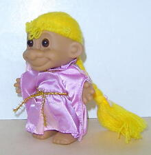 """Russ 4"""" Troll Doll Rapunzel Storybook Collection Original Outfit Great Conditio"""