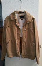 BANANA REPUBLIC Brown Linen Cotton Collared Coat Jacket Mens XL