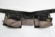 CLC Heavy Duty Tool Belt Seven Pockets and Metal Ring for Tool Good Condition