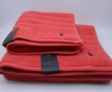 Ralph Lauren Towel Set Hand Towel And Bath Towel In Red Cotton New With Tag
