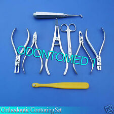 Orthodontic Contoring Bracket Remover Scisors Seperator Pliers & Band Set DN-487