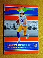 2020 Panini Plates & Patches Orange /75 Justin Herbert #161 Rookie Gem Mint RC