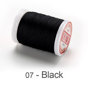 0.4 0.5 0.6mm Round Waxed Thread Leather Sewing Hand Stitching Polyester Cord