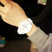 Unisex Men Women Quartz Analog Fashion Silicone Sports Dress Wrist Watch Watches