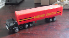 Vintage 1970s Yatming Freeway Fighters Tractor Trailer Truck HO Scale Diecast