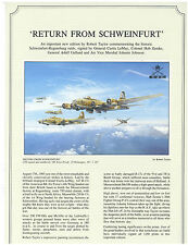 Robert Taylor - Return from Schweinfurt - Aviation Art FLYER