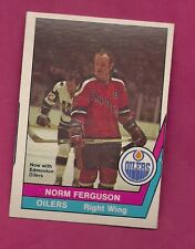 RARE 1977-78 OPC WHA # 52 OILERS NORM FERGUSON EX-MT CARD  (INV#3653)
