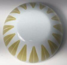 """Vintage Catherineholm of Norway Yellow Gold on White Lotus Enamel Bowl 5.5"""" MCM"""