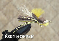 Foam Hopper Size 6 - 1 Dozen Trout Panfish Bass Terrestrial Fly 12 Hoppers F801
