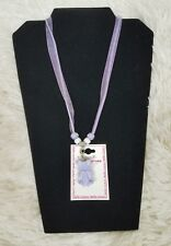 Meme Couture Little Girl's Necklace Purple Ballet Shoe Dancer Costume Jewelry
