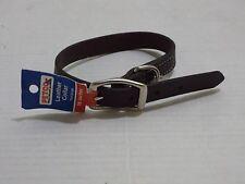 "Petco Brown Leather Dog Collar, For Neck Sizes 16"", Medium 4 adjustment holes"