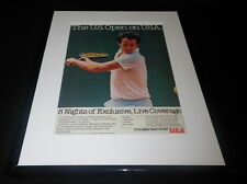 John McEnroe 1984 US Open on USA 11x14 Framed ORIGINAL Vintage Advertisement