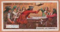 French Pirate Bucaneer Pierre Le Grande 90+ Y/O Ad Trade Card