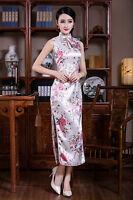 Traditional Chinese Silk Satin Women's Dress Cheong-sam SZ S M L XL XXL