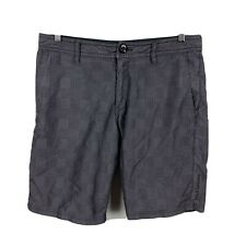 Billabong Mens Shorts Size 32 Grey Zip Pockets Good Condition