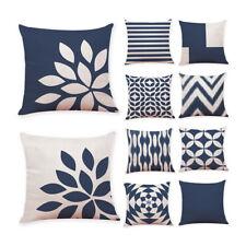 2018 New Cushion Cover Dark Blue Style Throw Pillowcase Pillow Covers Home Decor