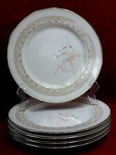 "LENOX china PINK LILY pattern Salad Plate - Set of Five (5) - 8-1/4"""