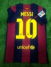 BARCELONA 2014/2015 MESSI HOME FOOTBALL SOCCER JERSEY CAMISETA BOYS KIDS NIKE S