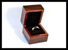 Rare Quality Wooden Rings Jewellery Display Gift Box Weddings Engagement