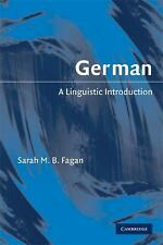 German: A Linguistic Introduction (Paperback or Softback)