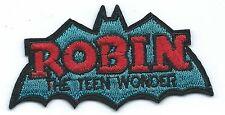 Robin the Teen Wonder Embroidered Patch Iron-on Motif Art Good Luck Magic Batman