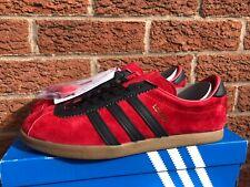 adidas london og.  red black gum  .. 8 uk bnibwt .. unworn