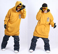 December long tall hoodie ski snowboard-basic mustard XL