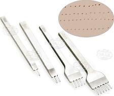 4stk 4mm Prongs Tool Leder Leather Craft Stitching Lacing Chisel Punch Kit