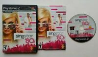 SingStar '80s ~ PlayStation 2 PS2 - Complete Game CIB Tested & Works