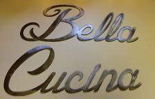 Bella Cucina Words Large set Metal Wall Art Accents SILVER