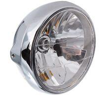 "Motorrad Scheinwerfer 7"" H4 12V 60/55W Metall Chrom Klarglas Chopper Custom Drag"