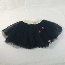 Girls M Multi Layer Tulle Tutu Skirt  Colorful Pom Pom Mini Pettiskirt black