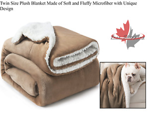 Twin Size Plush Blanket Made of Soft and Fluffy Microfiber with Unique Design