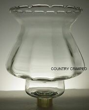 Home Interiors Country Crimped clear glass Votive Cup w/ rubber grommet