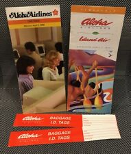 Aloha Airlines HISTORIC AQ243 Timetable, one other, and bonus BAG ID TAGS!